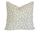 Leopard Linen Taupe & Ivory Pillow Cover - Made-to-Order