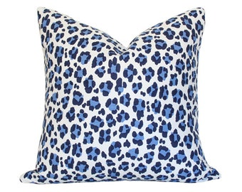 Conga Line Navy & French Blue Pillow Cover (Single-Sided) - Made-to-Order