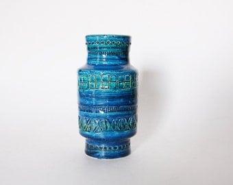 Hand Built  Rimini Blu Mid-Century Vase - Bitossi 60s