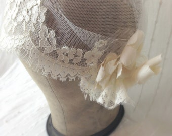 Ivory Bridal Cap