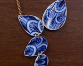 Blue Scales Lomonosov Necklace - Recycled China - Material and Movement