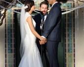 Waltz wedding veil READY TO SHIP  white, ivory,diamond white 49 inches
