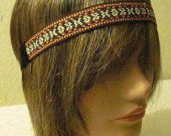 Tribal Headband, Boho Headband, Hippie Headband, Gypsy Headband, Forehead Headband, Woven Trim Headband, Women Headband Modern Headband.