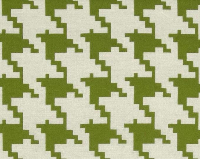 Designer Pillow Cover - Lumbar, 16 x 16, 18 x 18, 20 x 20, 22 x 22 - Houndstooth Jacquard Grass