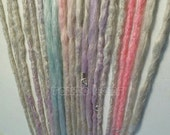 6 Natural style dreads with or without weft clips with loose ends long custom order you pick all the colors dreadlocks hair extensions