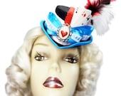 Alice In Wonderland Mini Victorian Steampunk Mad Tea Party Fascinator Top Hat
