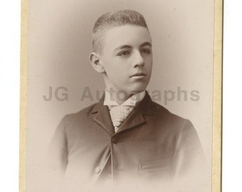 19th Century Young Gentleman - 1800s Cabinet Card Photograph - Boston, Ma