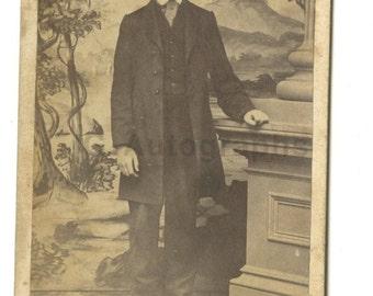 19th Century Young Gentleman - 1800s Carte-de-visite Photograph - Keene, Nh