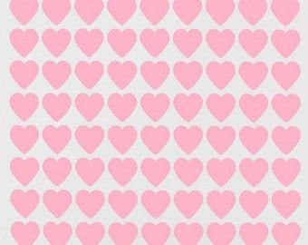 Mini Pink Heart Stickers  Weddings  Birthdays Party  Events Just Fun  3/4 inch