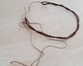 DIY Flower crowns -Set of 2- wire band bark covered headband add in your flowers halos Bridal hair wreath wedding accessories floral supply