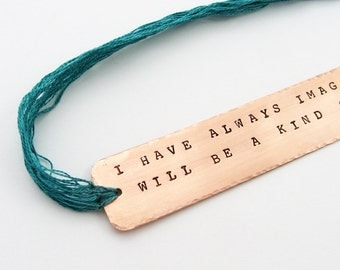 Custom Bookmark with Quotation (Unique Literary Gift for Bookish Type)