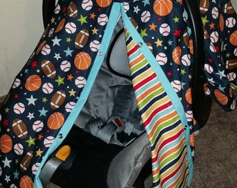 Car seat Canopy Sport Baby Football Baseball Basketball Reversible