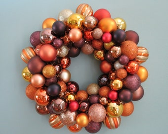 AUTUMN HARVEST Ornament Wreath for FALL or Thanksgiving 2-15