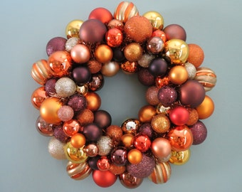AUTUMN HARVEST Ornament Wreath for FALL or Thanksgiving 1- 15