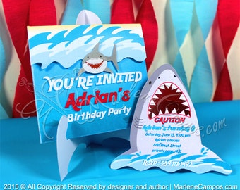 Shark birthday party Etsy