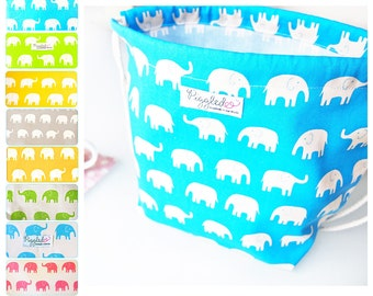 Large Child's Backpack Lunch Bag - Elephants (Choose Your Color)