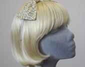 Yellow Headband - Yellow Ditsy Floral Bow Headband