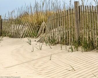 Beach Fence Photography, Fine Art Sand Dune Print, Ocean Coastline, Art for the beach house, Beach Theme, Seascape
