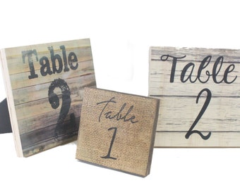 RUSTIC WEDDING TABLE NUMBERs-Wooden Table Numbers -Wedding Table Centerpieces-Personalized Wooden Table Numbers