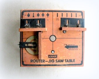 ROUTER Jig Saw TABLE- DYI- Vintage- Small- Table Top- Mount- Portable Table- Garage- Shop- Man Cave- Men-Build- Make- Shopsmith