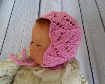 Newborn photo prop, bonnet newborn/ baby hat  ,shower gift , newborn boy, newborn girl, newborn knit hat, baby knit hat, photo props
