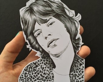 Illustrated Mick Jagger Sticker