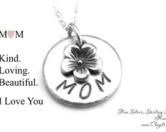 MOM NECKLACE, For Mom from Daughter, For Mom from Son, Gift for Wife from Husband, New Mom Necklace, Mothers Day Gift from Son or Daughter