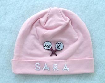 Golf Hat Beanie / Baby Toddler / Pink
