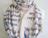 Beatrice Potter, The Tale Of Peter Rabbit, Infinity Scarf, Loop Scarf, ROOBY LANE