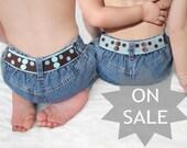 Reversible Toddler Belt - Aqua and Brown