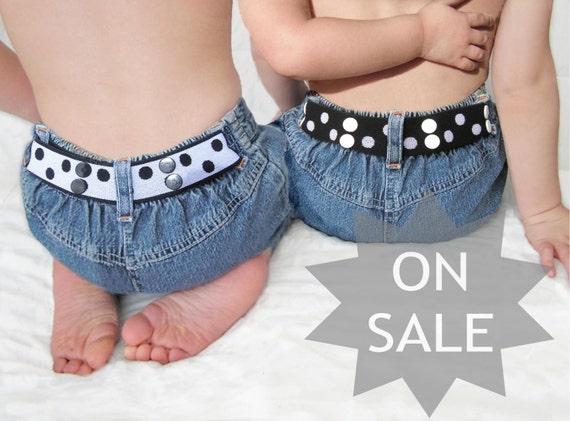 Toddler Belt Reversible - Black & White
