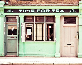 London art print, London photography, large art print, travel photo - Time For Tea