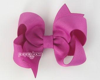 Hair Bow Wild Berry - girls hair bows - toddler hair bows - baby hair bows - little girl hairbows - 3 inch bows - girls hair clips barrette