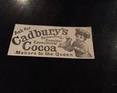 Cadbury Cocoa, Cadbury Ad, Cocoa Ad, Vintage Ad, Old Time Ad, Cadbury, Vintage Cadbury