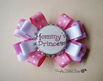 """Mommy's Princess loopy hair bow - 2.5"""""""
