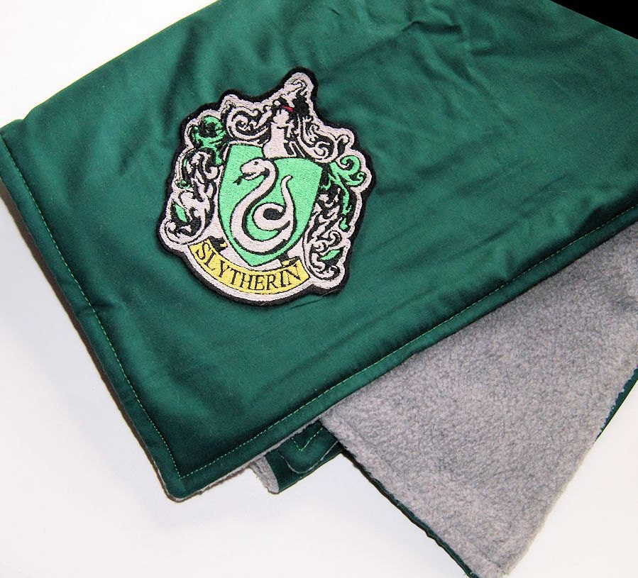harry potter slytherin house crest baby blanket double sided. Black Bedroom Furniture Sets. Home Design Ideas