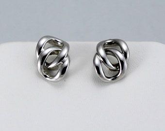 Napier earrings, vintage Napier, screw back silver tone earrings, women vintage jewelry, gift for her, screwback earrings