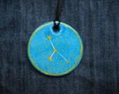 Cancer Jewellrey -Zodiac pendant,Constellation Zodiac Jewellery, juli zodiac- Astrology - Astronomy - Constellation on Blue