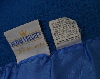 FIELDCREST Blanket Royal Velvet Blue