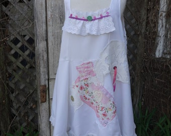 White Top,Loose Top,Bohemian Top,Shabby Chic Top,Handmade Top,Shabby Chic Top,by Nine Muses Of Crete