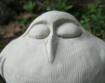 Bird Statue, Concrete Bird, Garden Decor, Fat Bird, Cement Birds, Owl Statues,