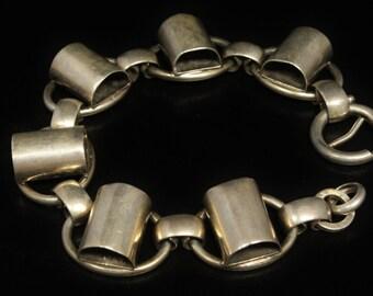 Napier Sterling Bracelet Modern Mid Century Ca. 1950s Scarce Size 7.5