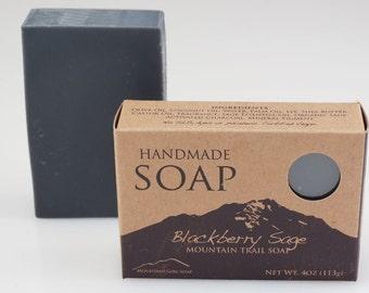 Blackberry Sage - Handmade Vegan Soap -  Mountain Trail Soap Collection