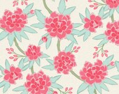 Design Your Own -Aqua and Pink Peony Floral -  changing pad cover, rail covers, boppy covers, crib sheet, crib skirt, bumpers