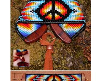 Loom Beaded Peace Sign Bracelet No.5