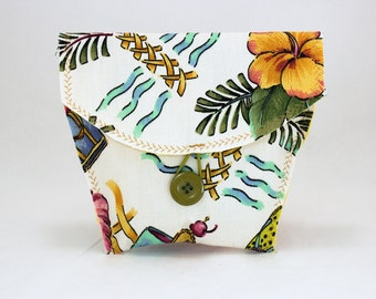 Bicycle Handlebar Bag in a Tropical Print