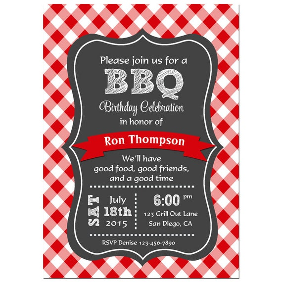items similar to bbq invitation printable or printed with. Black Bedroom Furniture Sets. Home Design Ideas
