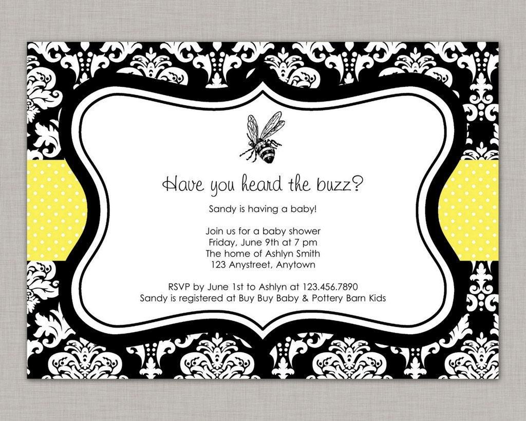bee baby shower invitation bumble bee baby shower bee gender