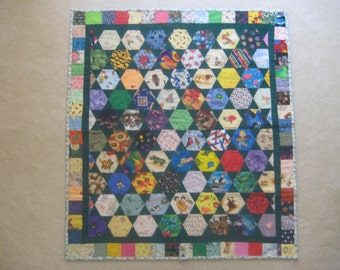 Colorful I Spy Baby Quilt