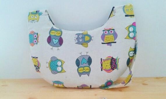 Owls tote bag, owls bag, fabric tote, canvas bag, owls tote, owls fabric, owls maxi bag,owl print bag, kawaii bag, owls crossbody bag